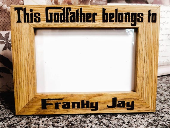Godfather Frame Gift for Godfather Baptism Frame | Etsy