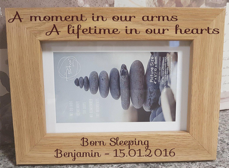 Einen Moment in unsere Arme Bilderrahmen Baby-Verlust-Denkmal