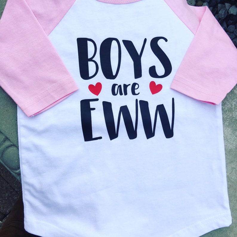 Boys Are Eww Baseball Tee