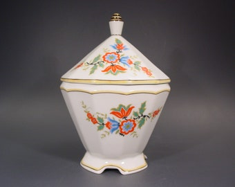 Decorative Arts Trend Mark Vintage Confectionery Dish Lid Bowl Tin Candy Box Schramberg Ceramics Covered Antiques