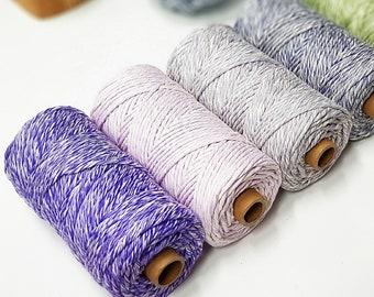 50 m 2 mm cotton rope macrame cotton indigo raw single twist 2 mm 164 ft Macrame cotton string indigo