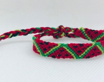 Red Watermelon Friendship Bracelets