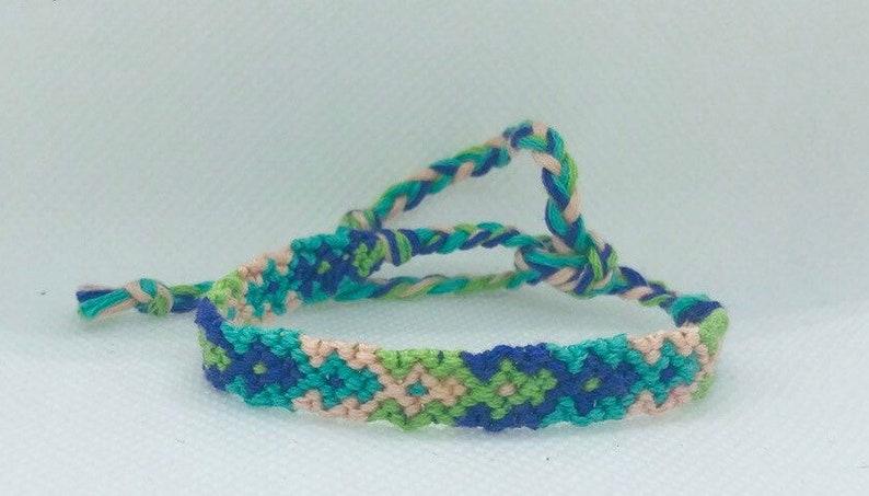 Pastel Arrowhead Friendship Bracelet