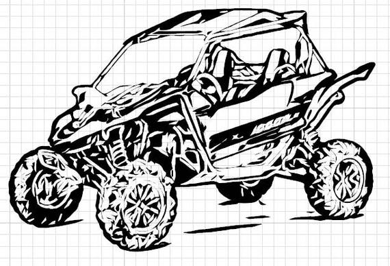 Can am coloring pages ~ UTV 4 | Etsy