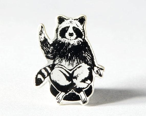 Raccoon Deity Hard Enamel Pin