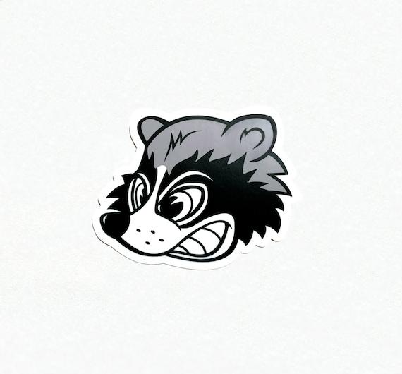 Wild Racing Raccoon Sticker