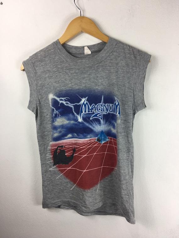Vintage Magnum Uk Tour 1985 Tank Top Shirt