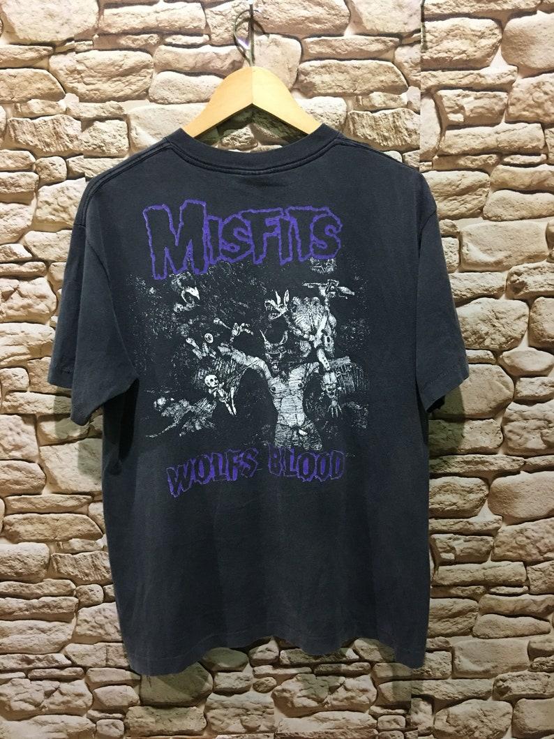 Rare Vintage Misfits Die Die My Darling Wolfs Blood Gothic Punk Suicidal Tendencies band Tour 1990 Shirt