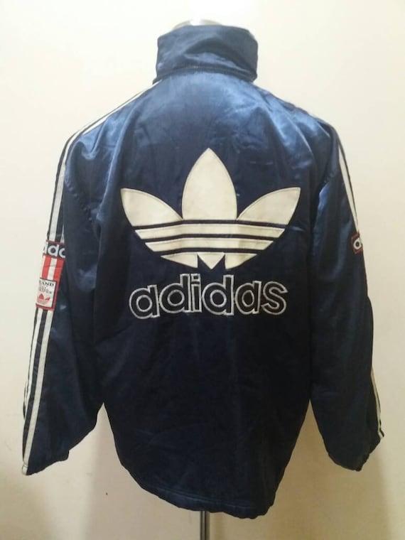 Vintage adidas große Logo Stickerei Sidetape Jacke Pullover