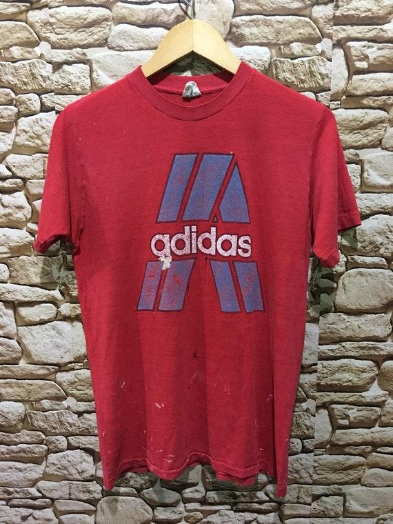 Vintage Distressed Adidas Paper thin shirt