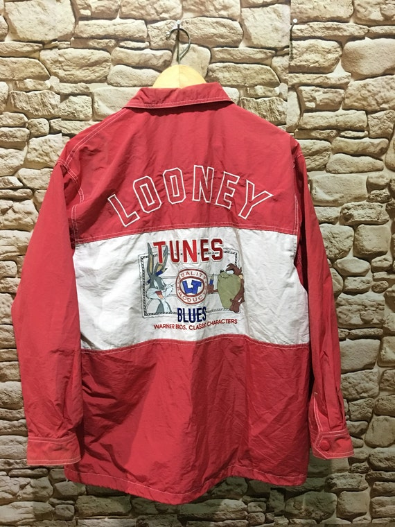 Vintage 90s Looney Tunes Warner Bros Embroidered C
