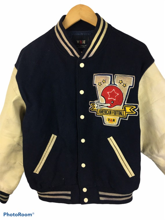 Vintage Van Jac Varsity Jacket With Leather Sleeve