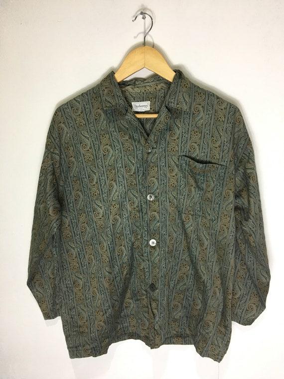 Vintage 90s Burberrys paisley pyjamas shirt