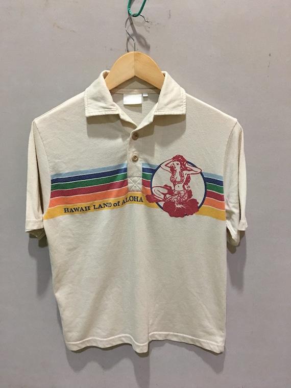 Vintage Hawaii aloha rainbow shirt