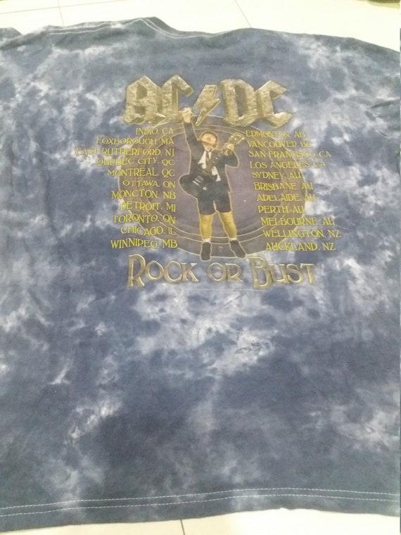 Vintage mosquitohead ac dc acid wash tour shirt