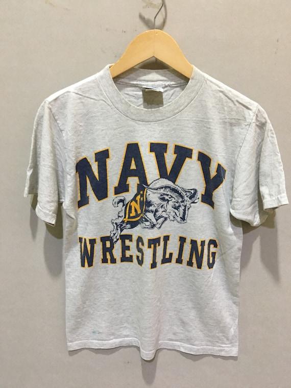 Vintage 90s Navy Wrestling academy wrestling shirt