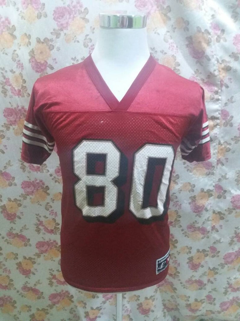 promo code bfa08 12796 Vintage NFL Jersey RICE 80 american football uniform shirt
