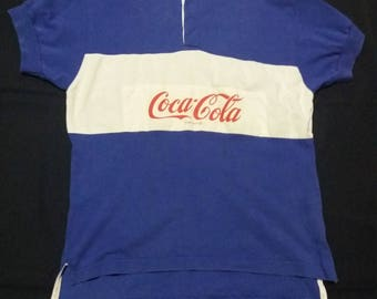 Vintage Coke cola rugby 80s/90s shirt