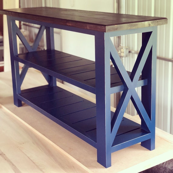 rustic x console table with shelves sofa table entryway etsy rh etsy com Farmhouse Console Table console table 100 x 30