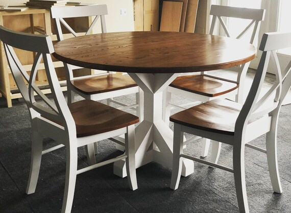 Round Kitchen Table, Rustic Table, Farmhouse Table, Wood Furniture, Kitchen  Decor, Circular Table, Rustic Decor, Dining Table, Handcrafted