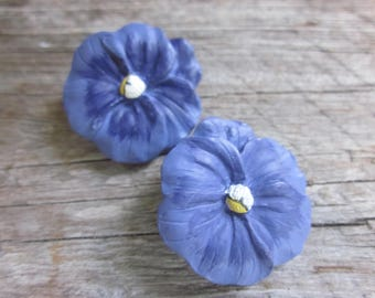 Pansy Buttons // Flower Buttons // Purple Buttons