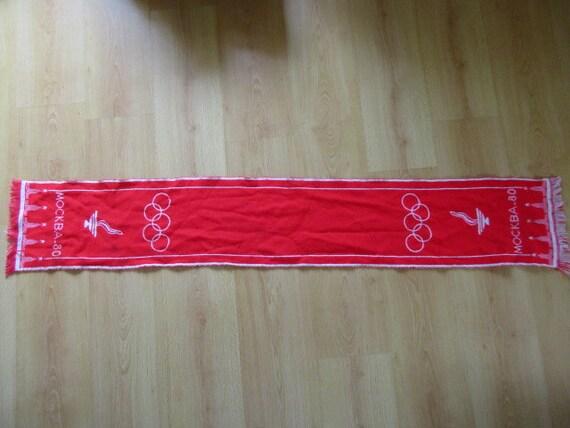 Vintage TailleEtsy Jeux 1980 Écharpe Rare Urss Moscou Olympiques GpMVUzqS