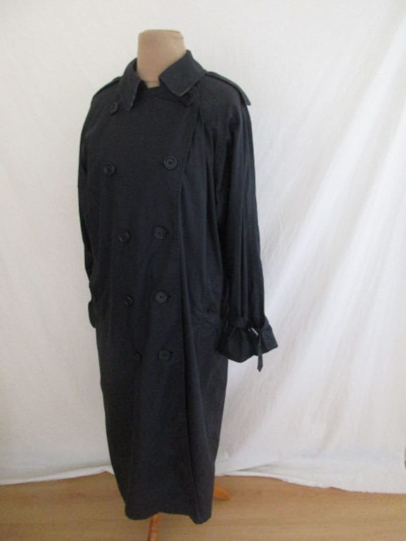 120943773a53 Black size 44 Burberry trench coat by-64% | Etsy