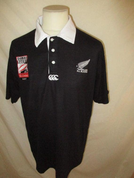maillot de rugby 7 dubai new zealand all blacks vintage 2007 etsy. Black Bedroom Furniture Sets. Home Design Ideas