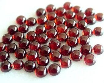 6x6 mm Redondo Natural cabujón de ónix rojo piedra suelta por mayor Lote de 30 piezas
