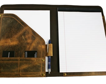 Large Leather Padfolio, 8-1/2x11