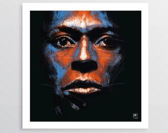 Flamenco Sketches - Digital Illustration, Miles Davis tribute, gift idea, decor home, decor office, illustration hand made