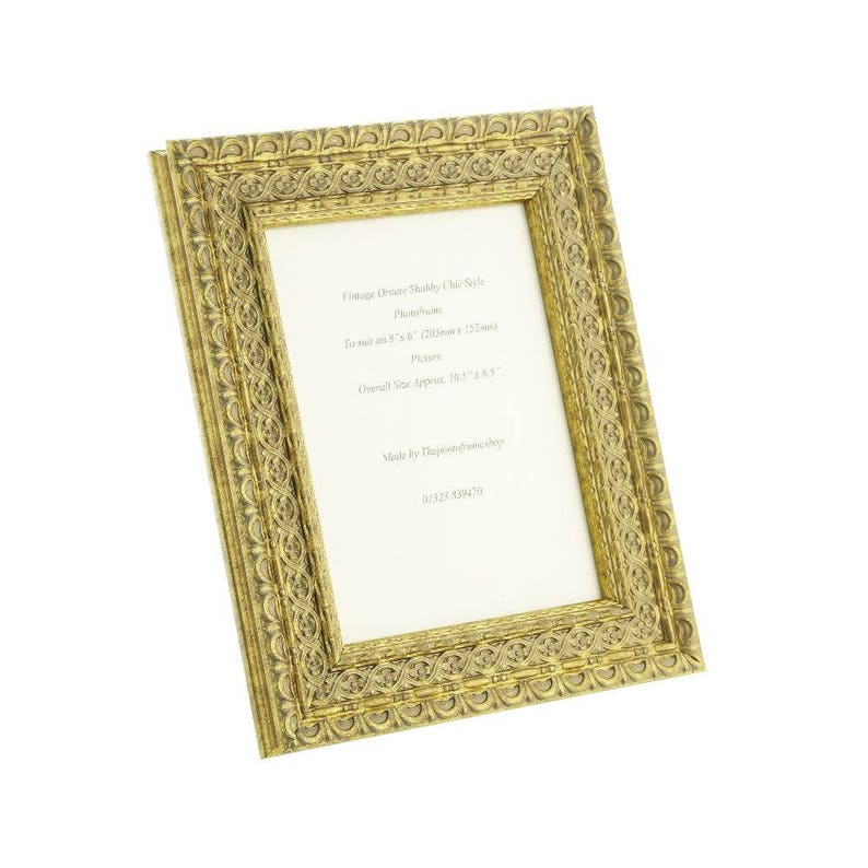 e3b41b1acf6 Hand made shabby chic ornate distressed Gold vintage photo