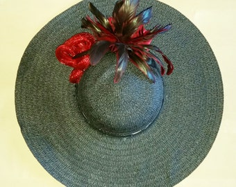 Black & Red Derby Hat