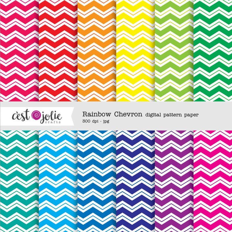 image about Printable Patterned Paper referred to as Rainbow Chevron - Printable Practice Paper Preset