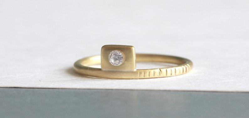 Diamond Ring 9ct Gold Ring Gold Ring For Women Diamond Wedding Ring Solid Gold Ring Dainty Ring Tiny Diamond Ring Promise Ring
