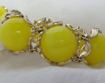 Yellow Moonglow Earrings and Bracelet Set
