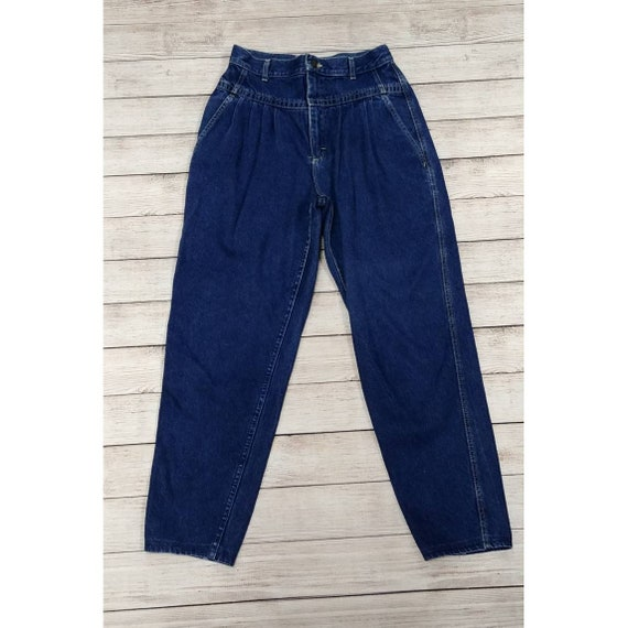 Lee High Waist Pleated Tapered Jeans