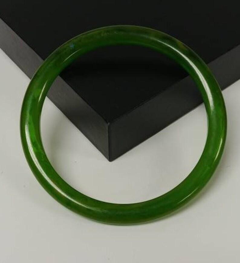 Marbled Green Bakelite Bangle