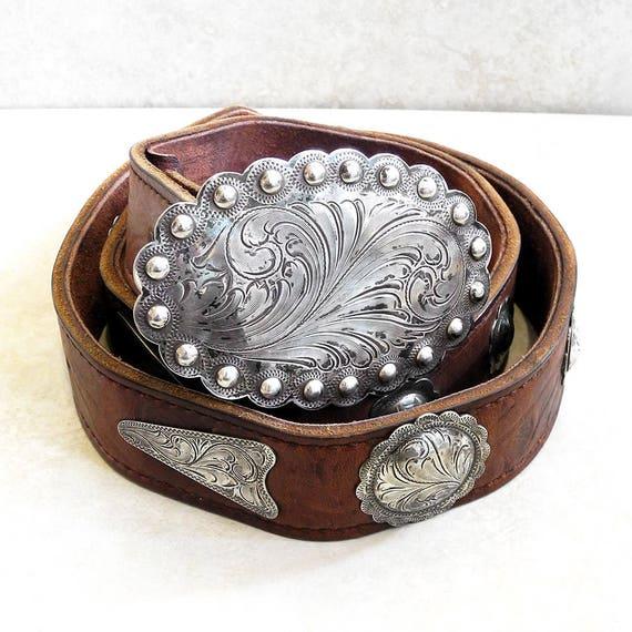 Vintage Sterling Overlay Belt Buckle