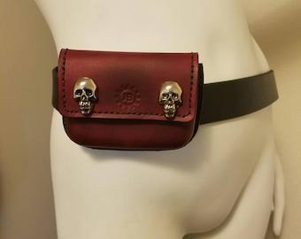 Mini leather fanny pack