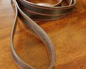 English bridle leather leash, dog leash, leather leash, bridle leather leash, leash, leather dog leash, brown leather leash, brown leash