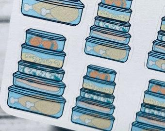LEFTOVER FOOD STORAGE Sticker | Doodle Icon Sticker | Planner Sticker