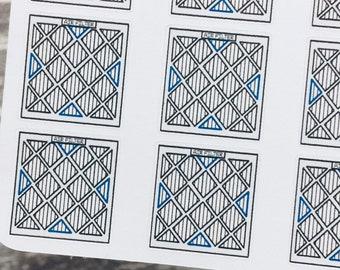 AIR FILTER Sticker | AC Filter Sticker | Doodle Sticker | Functional Sticker | Planner Sticker