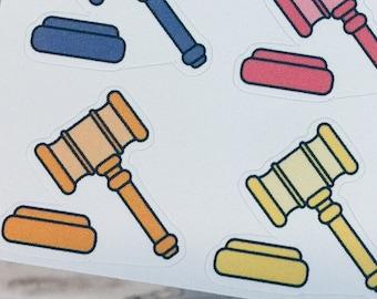 GAVEL Sticker | Doodle Sticker | Planner Sticker
