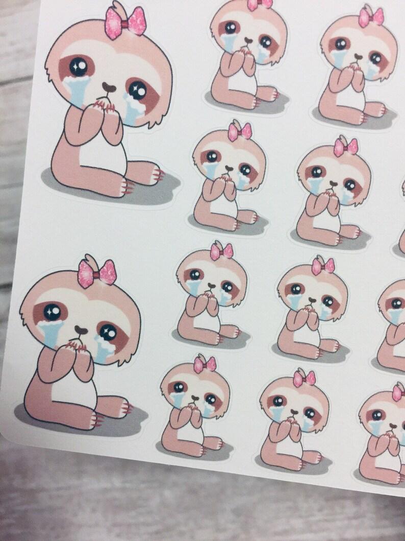 Suzy crying sloth sticker sloth sticker crying mental etsy