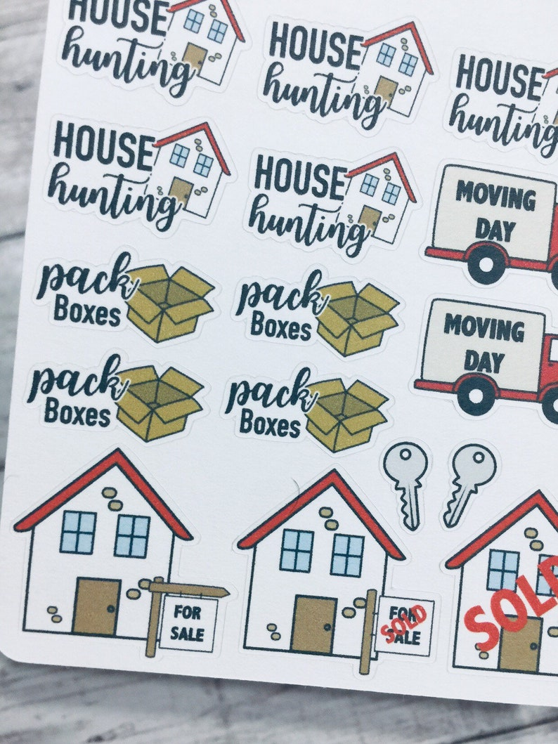 Moving Day Sticker  Buy House Sticker  House Hunting Sticker image 0