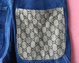 80707a874eb Gucci monogram carpenter jeans w32
