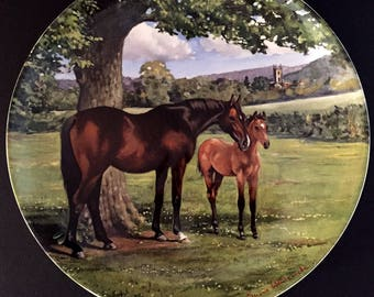 Vintage Spode - The English Thoroughbred, The Noble Horse Series, by Susan Whitcombe Limited Edition Collector Plate, 1988, Horse Lover Gift