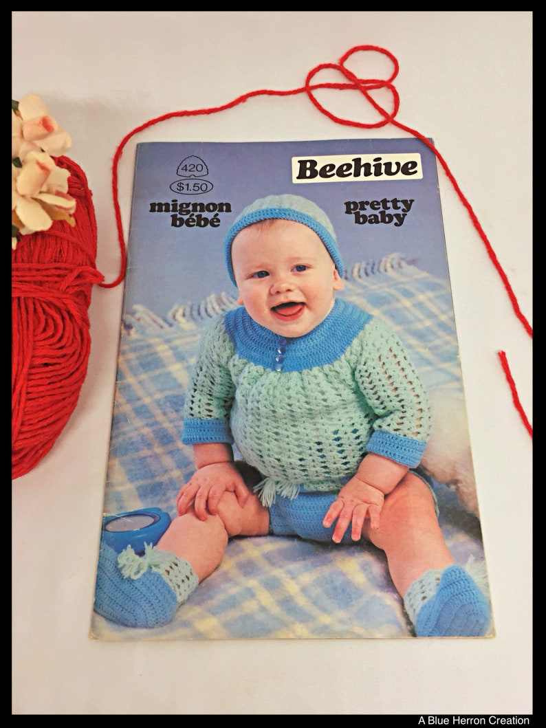 687470bc38f3 Vintage Pretty Baby by Beehive Patons Book No. 420 Baby