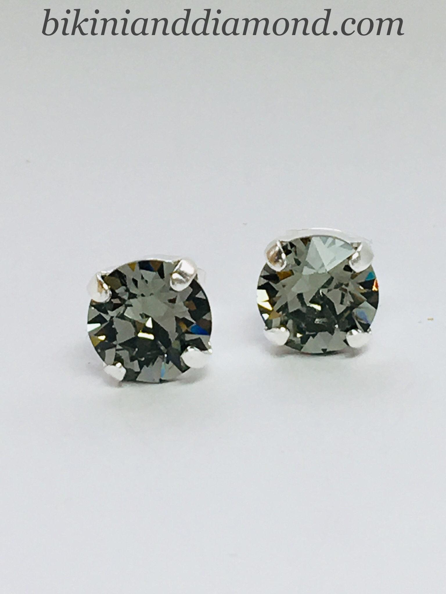 9f5cd77ff Black Diamond ~ Stud Earrings ft Swarovski Crystal